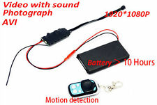 1080P HD DIY Module Spy Hidden Motion Camera Video MINI DV DVR + Remote Control