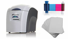 Magicard Pronto ID Card Printer Bundle - Includes Ribbon & Cards & Software !