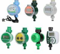 Garden Water Timer LCD Irrigation Controller Solar Rain Sensor Digital Type Tool