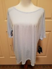 Nike Women's Breathe Fabric Short Sleeve Running Top Sz-1X Light Blue 922676-415