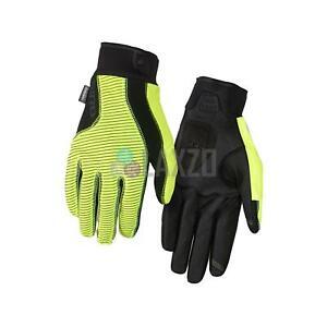 Giro Blaze Cycling Gloves Full Finger 2.0 Water Resistant 2017 S - Yellow/Black