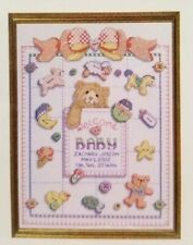 Baby Birth Record Counted Cross Stitch Pattern Janlynn Just A Chart 10x13 inch