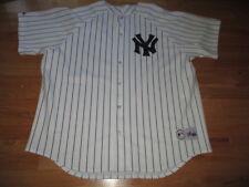 Vintage Majestic New York Yankees Pin Strips Button-Down (2Xl) Jersey White