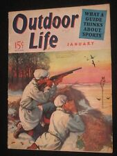 OUTDOOR LIFE COMPLETE 90 PG MAG 1/1941 WALTER H HINTON HUNTING COVER AMMO ADV