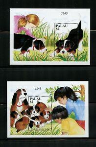 B771  Palau  1999   dogs puppies    sheets      MNH