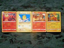 Holographic Charizard Surfing Pikachu Black Star & Promo Holo Pokemon 4 Card Lot