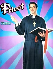 PRIEST FATHER HALLOWEEN COSTUME ADULT NEW STANDARD SIZE FUN EASY GREAT COUPLES