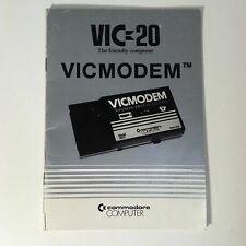 Commodore Computer Manual VIC-20 VicModem User Guide Book Instruction Vintage