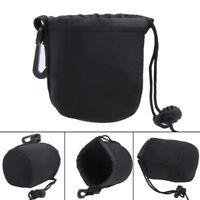 S/M/L/XL Neoprene DSLR Lens Soft Pouch Case Bag Holder for Canon Nikon Camera