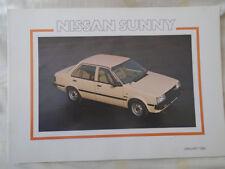 Nissan Sunny range brochure Jan 1983