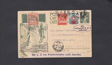 Daw Germany Zeppelin Postcard 1924 ZR3 Newyork Lot 65