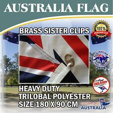 Australian Heavy Duty Outdoor Flag Large Trilobal Australia Flag Brass Clips