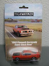 Highwaymen Movie Cray 1968 Plymouth Barracuda Super Stock Hemi Custom Hot Wheels