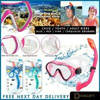 Kids Diving Mask Snorkel Set Anti Fog Goggles Swimming Dry Tube Snorkeling Mask