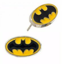 BATMAN Logo Metal Enamel Stud Earrings