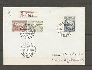 GREENLAND - Recommanded letter. Tasussaq pr. Upernavik. 14/10-1975. Last day