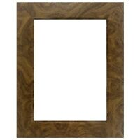"US Art Frames 1.25"" Flat Brown Burl MDF Wall Decor Picture Poster Frame"