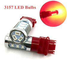 2PCS DC 12V 3157 Red LED Stop Brake Flash Strobe Rear Light Bulbs Reversing Lamp