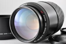 Near Mint Minolta AF 100-300mm F/4.5-5.6 Macro Zoom Lens w/ Hood from Japan #BD5