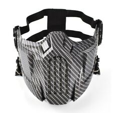 Tactical Airsoft Outdoor Hunting Paintball Half Face Protected Mask Carbon Fiber