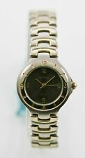 Geneva Watch Womens Stainless Silver Gold Steel Water Resist Battery Gray Quartz