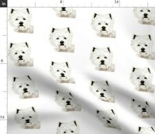 Westie West Highland White Terrier Fabric Printed by Spoonflower Bty