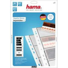 HAMA 25 GLASSINE NEGATIVE SLEEVES 4 STRIPS OF 6x6-6x9CM  24X36MM 2256