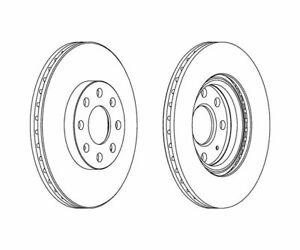 2 St. FERODO Bremsscheibe PREMIER Coat+ disc DDF1304C