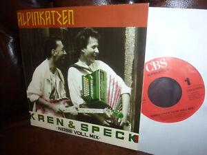 """Alpinkatzen (= HUBERT VON GOISERN) Kren & Speck Nase Voll Mix, Holland 7"""" 1989"""