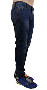 """DIESEL Jeans Stretch Larkee Beex RC79I """" Tapered """" Blu Scuro Nuovo"""