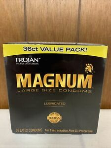 MAGNUM Large Size Condoms STD Protection Prevent Pregnancy Lubricated 36ct NEW