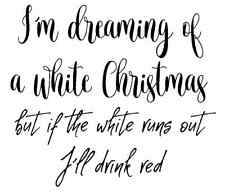 White Christmas Unmounted Rubber Stamp