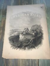 Antique Print From American Atlas Dated July 30, 1863. Native American Scene.