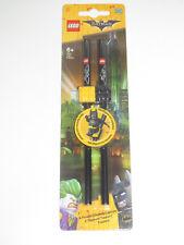 Lego ® Lot x2 Crayons Batman Le Film + Plaque Décorative NEUF