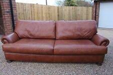 TETRAD for JOHN LEWIS 4 seater conker brown leather  sofa RRP £2200