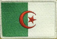 ALGERIA Flag Patch with VELCRO® brand fastener Military White Border #7