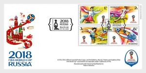 2018  ROMANIA    - FIFA WORLD CUP, RUSSIA SET ON FIRST DAY COVER