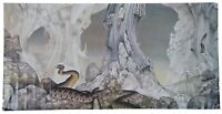 """Original 1974 Roger Dean Yes Relayer Poster Print Snakes English Rock Band 40"""""""