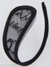 String C Slips C-String Noir Invisible avec un cœur Brodé et il y a écrit J'aime