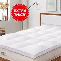BedStory Mattress 2'' Topper Hypoallergenic Fiber Pad Cover Hypo-allergenic Q K