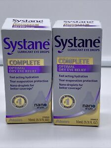 Systane Complete Eye Drops optimal dry eye relief 10 ml Exp 07/21 2-pk