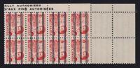 Canada Sc #459xx (1967) 6c orange Centennial Precancel Warning Strip of 20 Mint