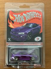 2020 Hot Wheels RLC Nissan Skyline GT-R BNR34 Purple with Patch and Pin