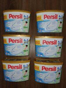 6 x PERSIL Discs / Pods SENSITIVE 4-in-1 tiefenrein, 96 Waschladungen NEU