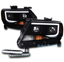 For 15-18 Chevy Colorado Led Black/Smoke Square Projector Headlight+Drl Lamp Kit
