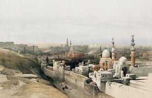 "David Roberts : ""Cairo: Looking West"" (1842-1849) — Giclee Fine Art Print"