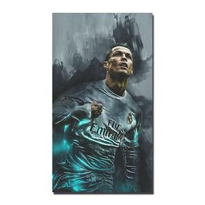 Cristiano Ronaldo Poster Art Silk CR7 Football King Poster 13x24 24x43'' J255