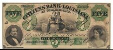 1800s $5 Citizens Bank of Louisiana at Sherevport Obsolete Currency