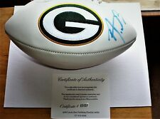 AARON RODGERS Autographed GREEN BAY PACKERS COMMEMORATIVE FOOTBALL