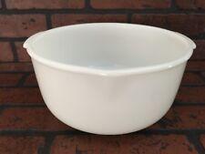 "GORGEOUS Vintage FIRE KING for SUNBEAM Milk Glass 9.5"" Mixing Bowl Spout Handles"